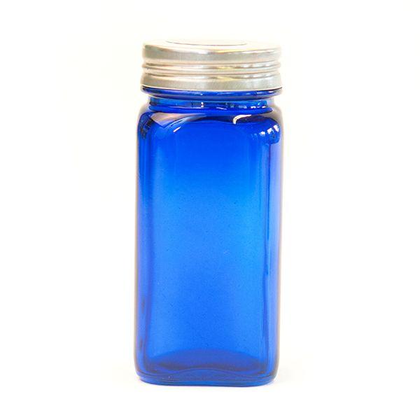 Blue Glass Spice Jar