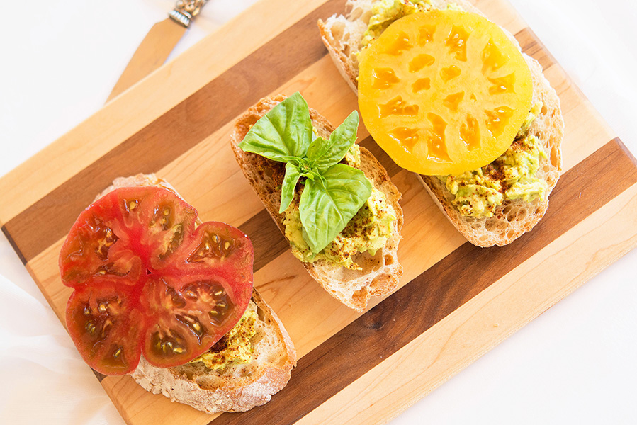 Sriracha Avocado Heirloom Tomato Toast