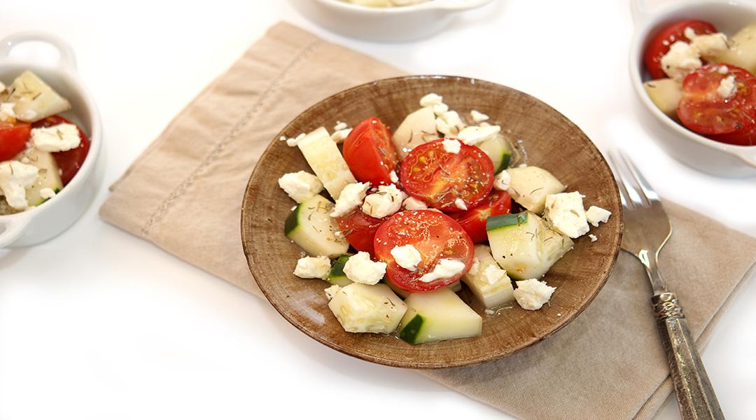 Cucumber feta tomato salad recipe