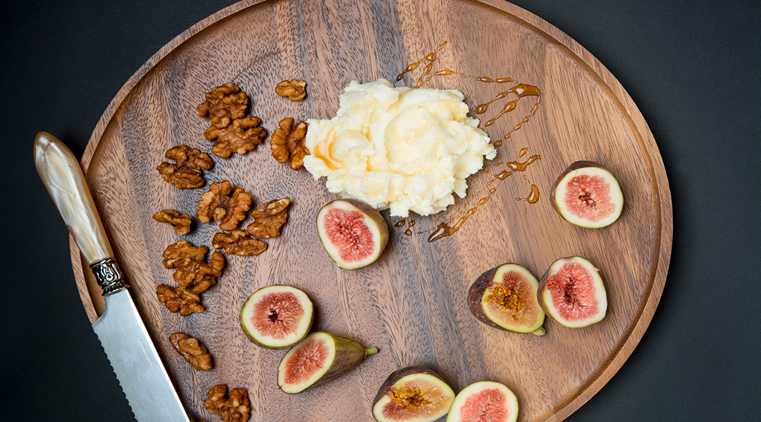 Honeyed Mascarpone with Figs and Candied Walnuts
