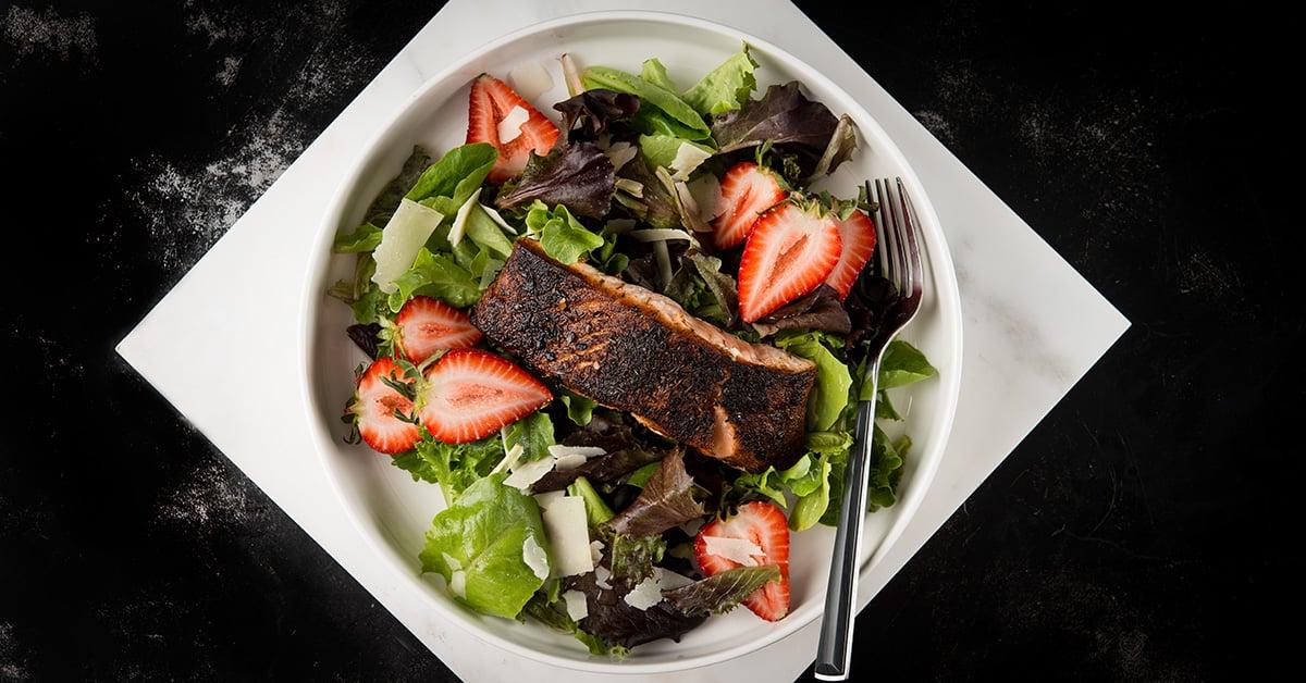 cajun blackened salmon salad