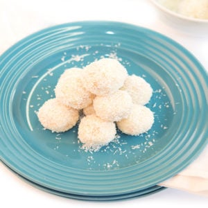 White Chocolate Cashew-Coconut Truffles