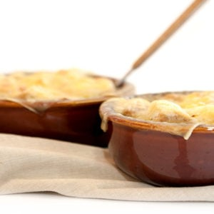 French Onion Soup with Black Garlic