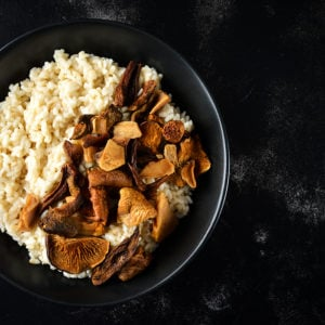 Wild Forest Mushroom Risotto With Almond Milk