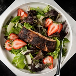 Blackened Salmon Salad Recipe