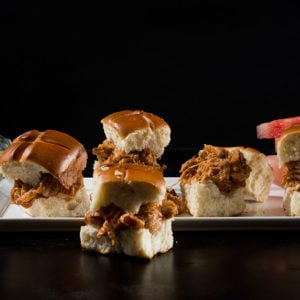 Crock-Pot BBQ Chicken Sliders