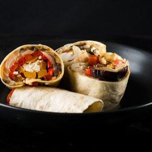 Chimichurri Roasted Vegetable Wrap