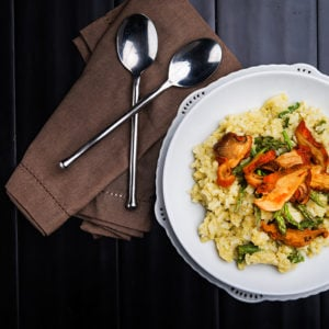 Asparagus and Lobster Mushroom Risotto