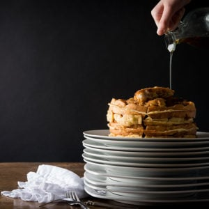 Rosemary Chicken Tenders and Savory Waffles