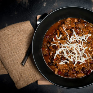 Spicy Three Bean and Beef Chili
