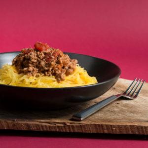 Healthy Spaghetti Squash Bolognese
